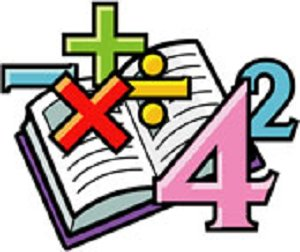 a textbook with numbers and math symbols, addition subtraction, division multiplication, #2 #4